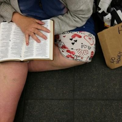 New York's homeless flock to empty subway trains