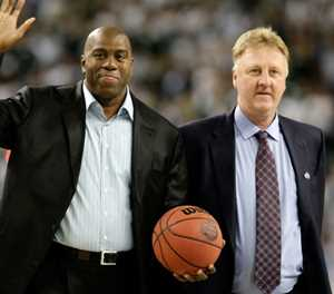 Johnson and Bird to get joint NBA lifetime honour