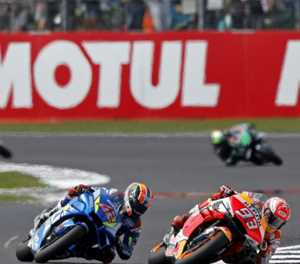Rins pips Marquez on line for British MotoGP victory