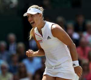Kerber storms into second Wimbledon final as Ostapenko misfires