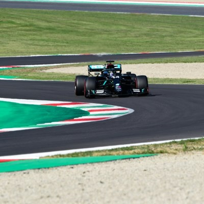 Hamilton on Tuscan Grand Prix pole, Mercedes lock-out front row