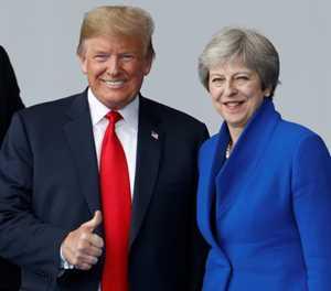 Trump, en route to London, stokes Britain's Brexit turmoil