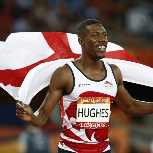 Britain's Hughes wins 100m crown at Boston Games