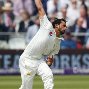 Hasan strikes for Pakistan as Cook holds firm in first Test