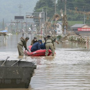 Desperate searches as dozens feared dead in Japan floods