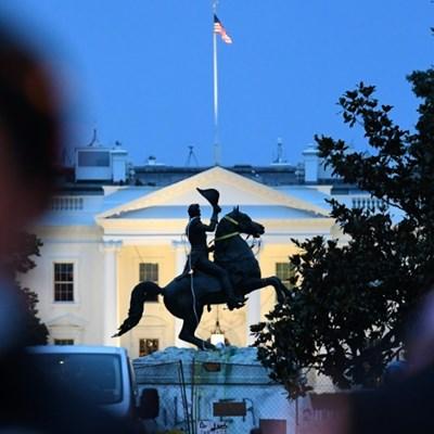 Trump threatens force against protestors in US capital