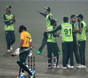 Rizwan's hundred helps Pakistan outlast South Africa