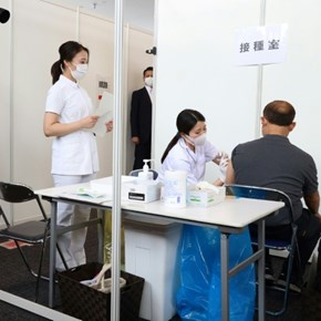 Olympic staff, volunteers vaccinated as Tokyo Games near