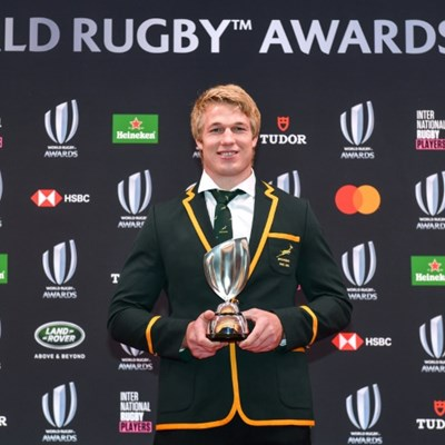 Du Toit player of year as Springboks sweep World Rugby awards