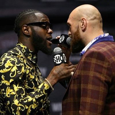 Heavyweight champ Wilder apologizes after decking TV mascot
