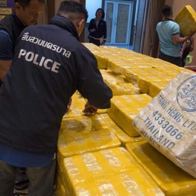 Myanmar police seize massive haul of meth pills