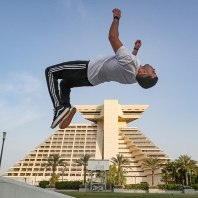 Parkour piques interest in Doha's urban jungle