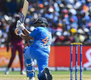 Sharma leads India to 167-5 in second T20 against Windies