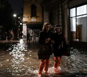 Devastation in Venice after exceptional tide