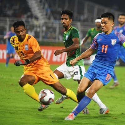 India's Chhetri passes Messi in international goals