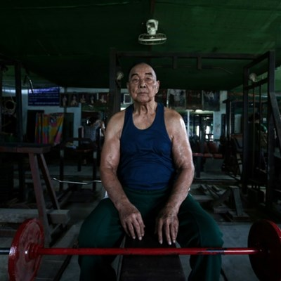 Ripped not RIP'd: Myanmar's former 'Mr Burma' still pumping iron at 91