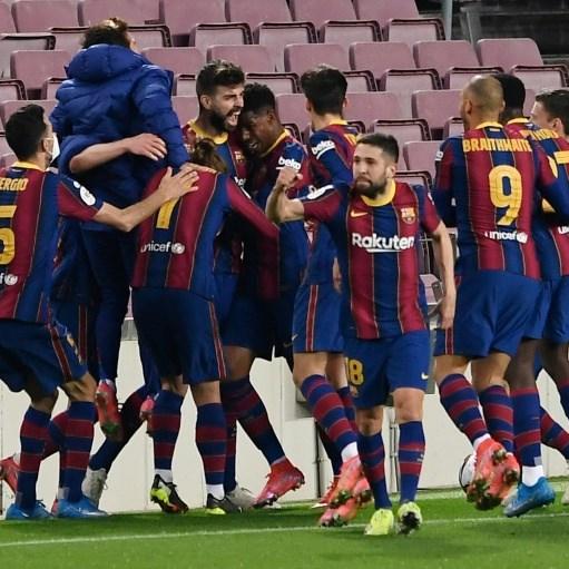 Extra-time winner lightens mood as Barcelona reach Spanish Cup final