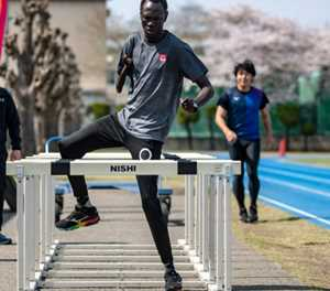 Stranded in Japan, South Sudan athletes keep Olympic dreams alive