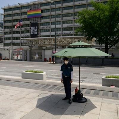 US embassy in Seoul removes Black Lives Matter banner