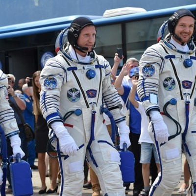 Astronauts land from ISS stint marred by air leak, rocket failure