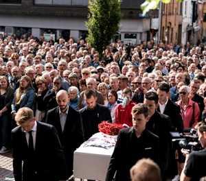 Final farewell for crash victim Lambrecht