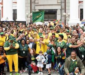 Springboks celebrate victory at legendary Mandela site