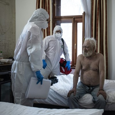 Covid hotel: Prague's homeless find refuge in four-star spot