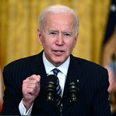 Flying solo: Biden to hold his first press conference