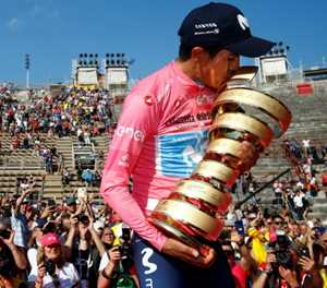 From a bicycle without tyres: Ecuador's Carapaz conquers Giro d'Itala
