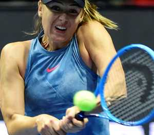 Injured Sharapova out of Indian Wells: organisers