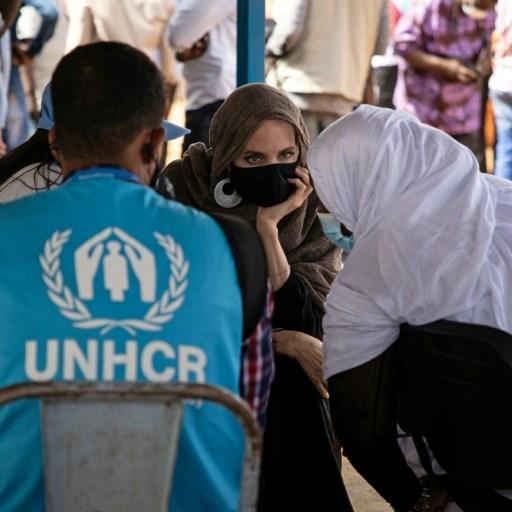 US star Angelina Jolie visits refugee camp in Burkina Faso
