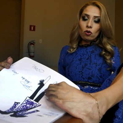 Made by foot: Mexican designer overcomes disability in style