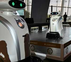 Friendly robots spruce up Singapore
