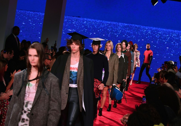 62a9f591 Models walk the runway at the Calvin Klein 205W39NYC Spring 2019 Men's and  Women's runway show during New York Fashion Week