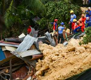 Search for survivors in new landslide