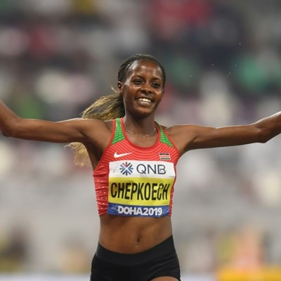 Chepkoech claims 5km record by one second