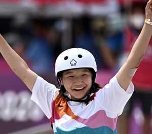 Japan's Nishiya, 13, first women's Olympic skateboard champion