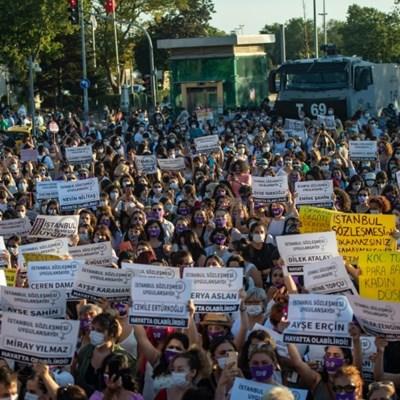 Turkey debates dropping landmark women's treaty