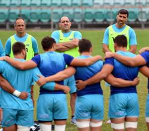 New Zealand shuffle forward pack, Argentina change 10