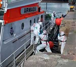 Australian liner facing growing coronavirus crisis off Uruguay