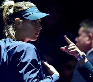 Shoulder pain forces Sharapova out of St Petersburg