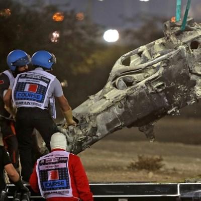 Triumphant Hamilton praises safety rules for saving Grosjean