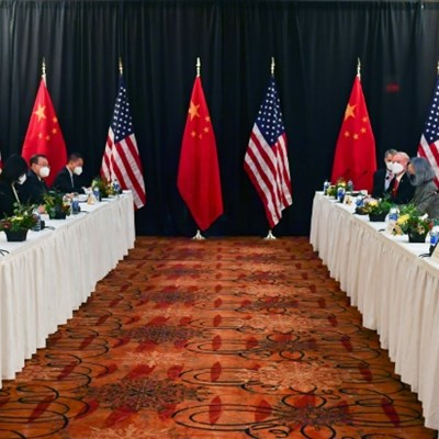 Tough talk at first face-to-face US, China meeting in Biden era