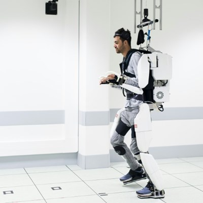 Paralysed man walks again with brain-controlled exoskeleton