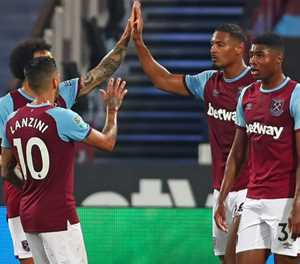 Haller lifts West Ham gloom, Palace crash out of League Cup