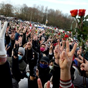 Thousands march in Belarus opposition rally in Minsk