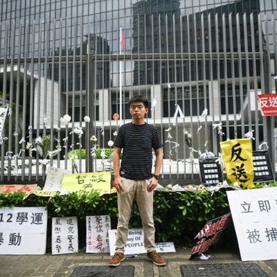 Hong Kong police round up activists ahead of rally