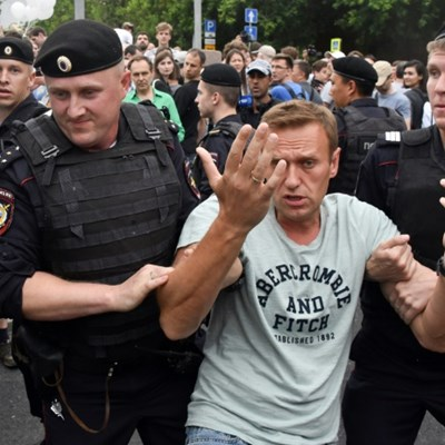 More than 200 arrested at Moscow police abuse march
