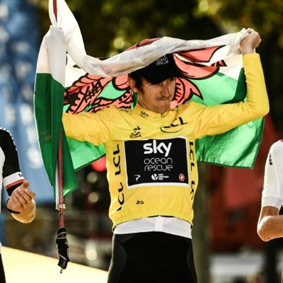 Thomas overwhelmed as Tour victory serenaded by Elton John, Henry and Bale