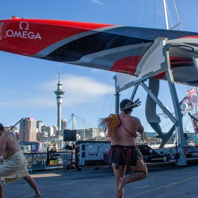 Is it a boat, is it a plane? Team NZ launch America's Cup 'flying machine'